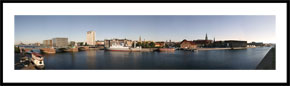 Christians Brygge - panoramabillede i farver